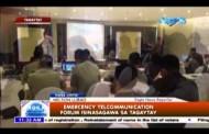 Emergency Telecommunication Forum isinasagawa sa Tagaytay
