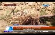 Masla, Lubon Road sa Mountain Province, nagkaroon ng landslide