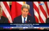 Amerika hindi payag na makontrol ng China ang West Philippine Sea