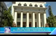 Libel case laban kay Sen. Antonio Trillanes