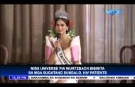 Pag bisita ni Ms. Universe sa mga HIV patients at sugatang sundalo