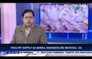 Poultry supply sa bansa, nananatiling matatag - DA