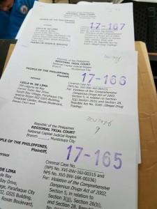 Mga kaso ni Sen. De Lima, ira-raffle ngayong araw sa Muntinlupa RTC