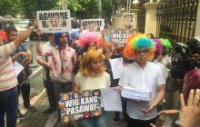 Grupo ng kabataan sumugod sa DOJ para ipanawagan muli ang pagbibitiw ni Justice Sec. Aguirre