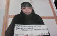 Babaeng nagrerecruit ng mga terorista para sumali sa bakbakan sa Marawi gamit ang social media naaresto ng NBI.