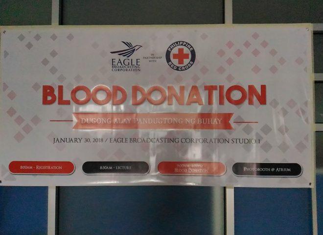 Eagle Broadcasting Corporation, muling nagsagawa ng Blood donation activity
