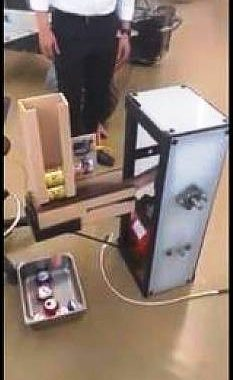 Can crushing machine na gawa sa recycled materials