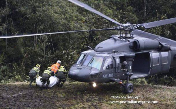 10 pasahero at crew ng bumagsak na military helicopter sa Colombia, patay lahat
