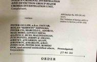 DOJ, iniutos ang pagsasagawa muli ng preliminary investigation sa Drug case nina Peter Lim at Kerwin Espinosa para bigyang daan ang mga dagdag ebidensya