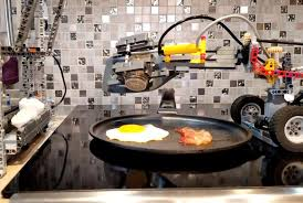 Breakfast-cooking machinena gawa saLego bricks