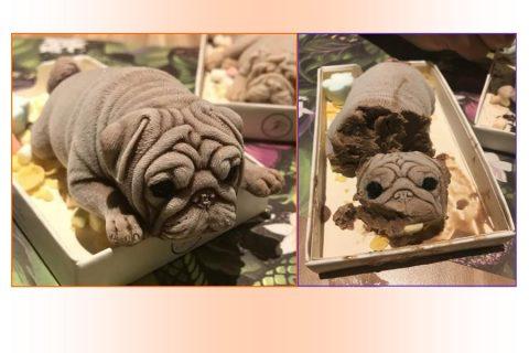 Puppy shaped ice-cream sa Taiwan