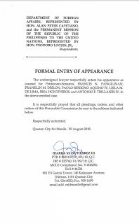 Opposition Senators mayroon ng abogado para sa Oral arguments sa ICC petition