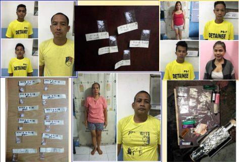 9 katao arestado matapos maaktuhang gumagamit ng droga sa Taguig
