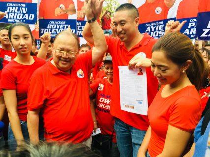 Francis Zamora naghain na ng kaniyang COC para tapatan ang pamilya Estrada sa 2019 Midterm elections sa San Juan