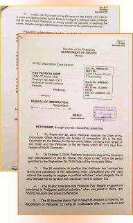 Australian missionary Patricia Fox muling nanawagan sa DOJ na ibasura at baligtarin ang Deportation order ng Bureau of Immigration laban sa kanya