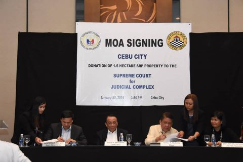 Korte Suprema at Cebu City government lumagda sa Deed of Donation para sa Cebu City Judiciary Complex