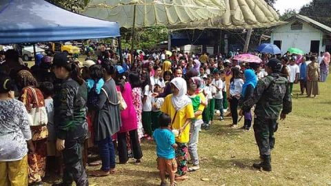 Joint Civic action activity sa evacuation area ng Patikul, tagumpay na naisagawa kahit binulabog ng mortar ng Abu Sayyaf