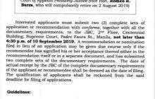JBC, binuksan na ang nominasyon sa babakantehing puwesto ni Court of Appeals Presiding Justice Romeo Barza