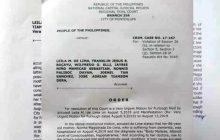 Muntinlupa RTC pinagbigyan ang hirit ni Senador De Lima na makabisita sa ina na may sakit sa Naga City