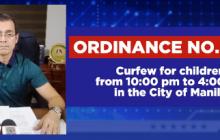 Curfew, mahigpit na ipatutupad sa Maynila simula mamayang gabi