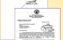Senador Panfilo Lacson inilabas ang dokumento ng paghingi ng Financial assistance sa kanya ni Cong. Fredenil Castro
