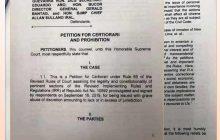 Walong inmates ng Bilibid kinuwestyon sa Korte Suprema ang nirebisang IRR ng RA 10592 o expanded GCTA law