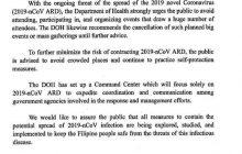 Pagsasagawa ng mga concert at iba pang malakihang pagtitipon, inirekomenda ng DOH na ipagpaliban muna dahil sa banta ng 2019 NCov