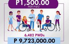 Mga PWDs sa Santa Rosa City, Laguna, makakatanggap ng 1,500 pisong ayuda