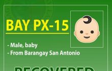 27-day old na sanggol sa Bay, Laguna, nakarekober sa Covid- 19