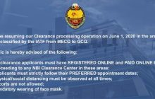NBI Clearance center balik-operasyon na ngayong araw