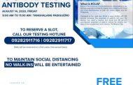 Pasig City government may libreng antibody test sa mga residente