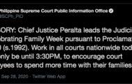 Trabaho sa mga Korte sa buong bansa ngayong Lunes, hanggang 3:30 ng hapon lamang
