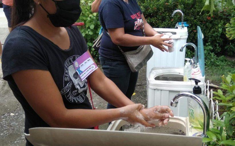 Mga sirang washing machine at dryer,  ni-recycle bilang hand washing facility ng isang paaralan sa Angat, Bulacan
