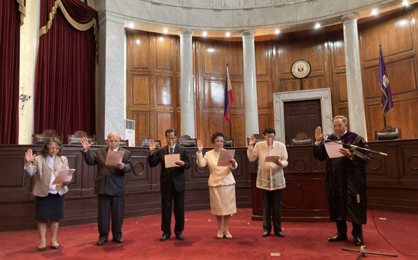 Mga miyembro ng Judicial Integrity Board, nanumpa na sa pwesto