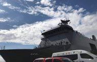 Barko ng Philippine Navy biyaheng Catanduanes para maghatid ng relief supplies at tumulong sa clearing operations