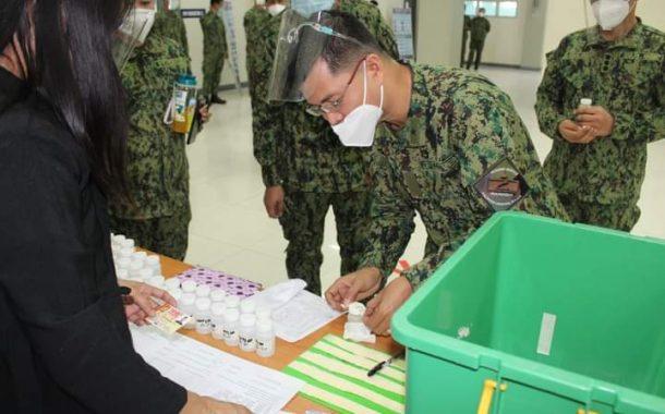 Mga Police personnel sa PNP Training Service sumailalim sa random drug test.