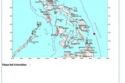 Guiuan Eastern Samar niyanig ng 3.7 magnitude na lindol