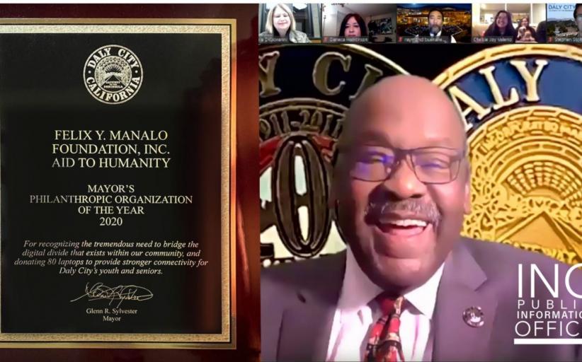 Felix Y. Manalo Foundation, Inc., kinilala bilang Philanthropic Organization of the Year 2020 ng Daly City