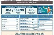 Covid-19 cases ngayong araw, naitala ng DOH sa 489,736