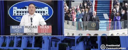 PRRD, nagpaabot ng pagbati kay US President Biden at VP Harris
