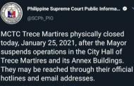 Trece Martires MCTCs, isinara matapos magpositibo sa COVID-19 ang ilang empleyado ng City Hall