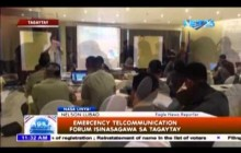 Emergency Telecommunication Forum isinasagawa sa Tagaytay