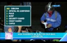 Bilang ng mga naaaresto dahil sa election gun ban, patuloy na tumataas!