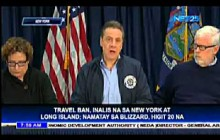 Travel ban, inalis na sa New York at Long Island; namatay sa blizzard, higit 20 na