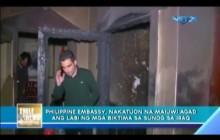 Agarang pag-uuwi sa katawan ng mga OFW na nasawi sa Iraq, tinututukan ng Philippine Embassy