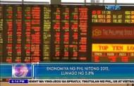Ekonomiya ng PHL nitong 2015, lumago ng 5.8%