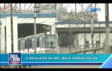 Escalator sa MRT, balik operasyon na