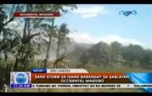 Sand storm sa isang barangay sa Sablayan, Occidental Mindoro