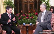 Asean Secretary-General Dato Lim Jock Hoi, humarap kay Singaporean Prime Minister Lee Hsein Loong