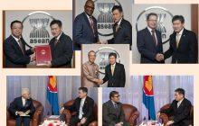 Mga ambassador ng Italy, Argentina, China, Japan, Nigeria at Russia sa Asean, muling nagprisinta ng kanilang letter of credence kay Asean secretary Dato Lim Jock Hoi